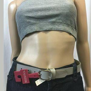 ❤️Snake Skin Oval Buckle - Merona  Belt Gray XS